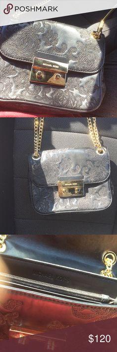 Michael Kors handbag Black and gold Never used Embroidered Michael Kors Bags Crossbody Bags