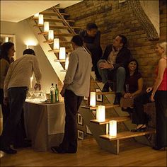 Stairs Kind Of Like This Apartment Party Scene Housewarming Plan A