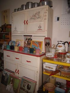 Sellers cabinet--just like mine except I have black trim.
