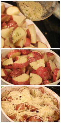Easy & delicious! Parmesan Roasted Garlic & Herb Potatoes