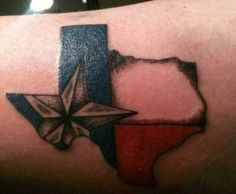 Beautiful Texas Pride Tattoo