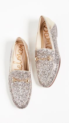 100542c172b Silver Glitter Loafers Gold Loafer Shoes