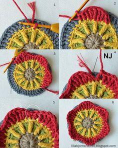 Circles of the sun CAL - Block 6 - Deutsch! Häkeln, stricken und nähen mit Libminna!