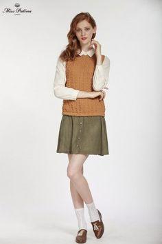 Soho Skirt (Moss) Green) (2)
