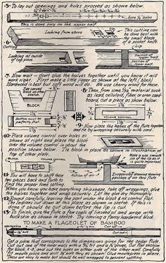 Walter Ben Hunt's Plans. Best site yet I have found for Flute making information. Has everything needed.