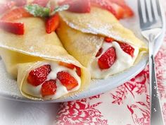 Strawberry Cheesecake Crepes | Easy Desserts | Pinterest | Strawberry ...