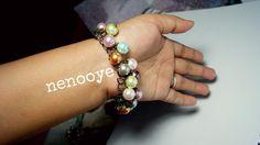 $10 cluster glass pearl bracelet