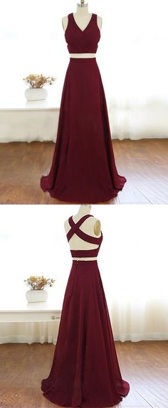 Two Piece Prom Dresses,Long Prom Dresses,Burgundy Prom Dresses,Prom Dresses 2017,Plus Size Prom Dresses,Cheap Prom Dresses