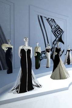 The Black and White Room in the Valentino Garavani Virtual Museum