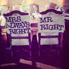 Distinguishing Mr. & Mrs. chairs