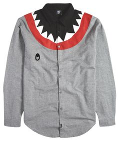 Socially Conveyed via WeLikedThis.co.uk - The UK's Finest Products -   Lazy Oaf Shark Long Sleeve Shirt http://welikedthis.co.uk/?p=1373