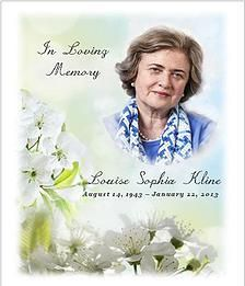 Photo Memorial and Funeral Flower Seeds at www.SeedPackets2u.com