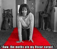 """""""Aww, the moths ate my Oscar carpet."""" Just funning.I hear Anja throws some neat Oscar ta-das :D Tv Shows Funny, Best Tv Shows, Favorite Tv Shows, Red Carpet Theme, Patricia Heaton, Everybody Love Raymond, Oscar Night, Family Show, Inevitable"""