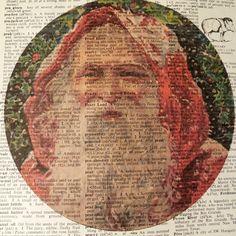 Dictionary Art Print - Upcycled Vintage Paper - Retro Santa Claus Print - x , via Etsy. Santa Claus Is Coming To Town, Dictionary Art, Upcycled Vintage, Vintage Paper, Art Prints, Retro, Holiday Decor, Handmade Gifts, Desserts