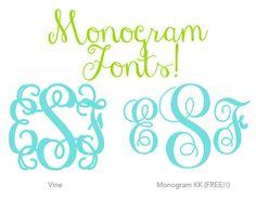 You Got Personal: Monogram Font Downloads