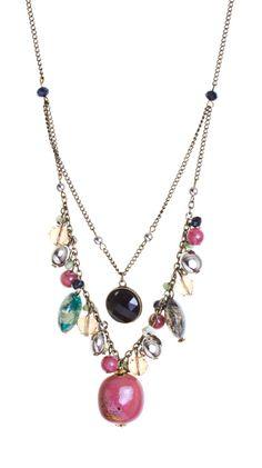 One Strand Multicolored Necklace.
