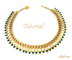 Tutorial Cleo Necklace Beading pattern PDF by Ellad2 on Etsy, $6.00