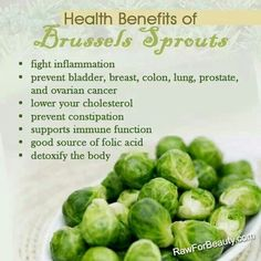 Health benefits of brussel sprout