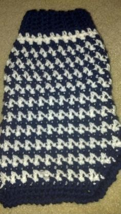 Another Dog sweater.  Made for Chowder!  free pattern via redheart.