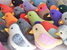 recycled sweaters: birds