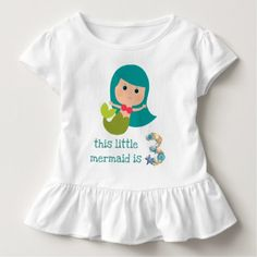 This Little Mermaid is 3 Toddler T-shirt - pink gifts style ideas cyo unique