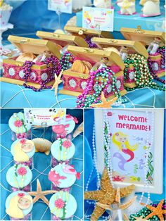 treasure boxes as favors for an Under the Sea party