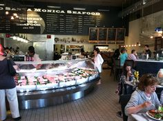 Santa Monica Seafood, retail and restaurant