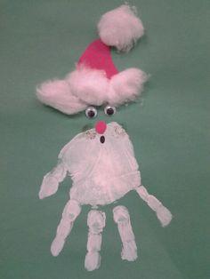 christmas crafts for toddlers handprint santa pre k art