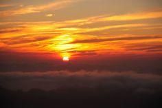 Sunrise from the peak of Mount Batur- Bali, Indonesia