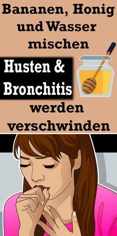 Bananen, Honig und Wasser mischen: Husten und Bronchitis werden verschwinden