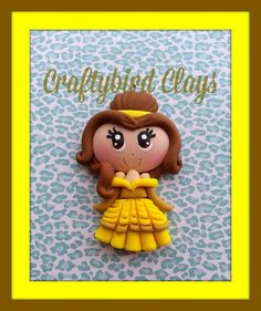 Belle Inspired Polymer Clay Charm / Princess by BeFairyCreative, $6.50