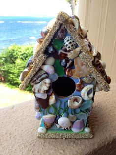 Aloha Sea Shell Decorative Birdhouse on Etsy, $25.00