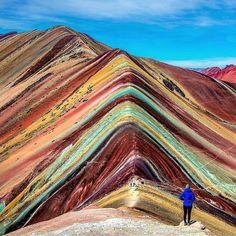 "39.9k Likes, 299 Comments - * Nature | Travel (@globelusters) on Instagram: ""Rainbow Mountain, Vinicunca, Peru PC @adventuresoflilnicki"""