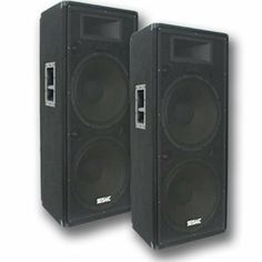"Seismic Audio - FL-155P (Pair) - Pro Audio PA/DJ Dual 15"" Speakers - 100% Birch Plywood - 1600 Watts by Seismic Audio. Save 50 Off!. $499.99. Pro Audio PA Dual 15"" Speakers - Birch Plywood - 1600 Watts Peak Model #: FL-155P (Pair) 800 Watts RMS, 1600 Watts Peak per cabinet Woofers have an 80 oz magnet and 3"" voice coils 1.5"" Titanium tweeter driver with 10 oz magnet and 1 3/8"" throat 4""x10"" Horn Two 1/4"" inputs and two Speakon inputs Frequency Response: 50 Hz to 20k Hz Crossover: 12..."
