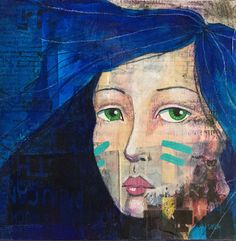 original mixed media painting by Heather Youngblood // youngbloodMADE
