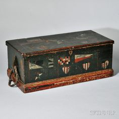 Small Painted Sea Chest