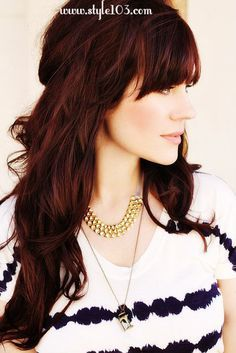 maybe it's time for me to go to dark brown with red highlights - love this rich color for winter