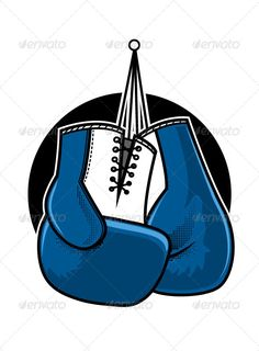 VECTOR DOWNLOAD (.ai, .psd) :: https://jquery.re/article-itmid-1007264623i.html ... Boxing Gloves ...  blue, boxing, cartoon, competition, equipment, exercise, fight, gloves, hanging, illustration, isolated, no people, nobody, pair, sport, vector  ... Vec