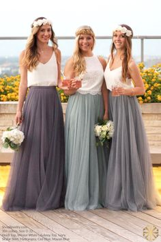 Tulle Skirt Bridesmaid, Wedding Bridesmaid Dresses, Wedding Party Dresses, Party Wedding, Wedding Ideas, Summer Wedding, Sequin Bridesmaid, Wedding Skirt, Prom Gowns