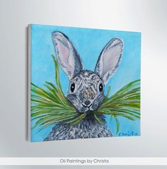 Hey, I found this really awesome Etsy listing at https://www.etsy.com/listing/220894833/easter-bunny-oil-painting-miniature