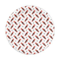 polka dots halloween candies pattern paper plate - kitchen gifts diy ideas decor special unique individual customized