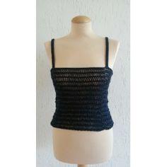 Hand knitted Combi Navy top eur. 25, -50%=eur,12,50 www.giezen-linen.nl