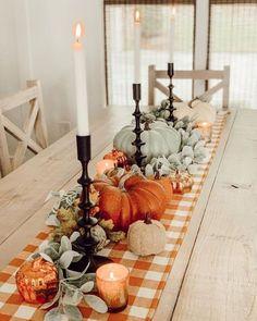 Thanksgiving Diy, Thanksgiving Table Settings, Thanksgiving Centerpieces, Fall Table Centerpieces, Centerpiece Ideas, Kitchen Centerpiece, Fall Home Decor, Autumn Home, Diy Home Decor On A Budget