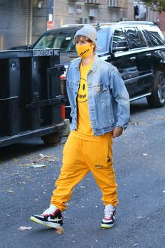 — Justin spotted out in New York City, NY today.