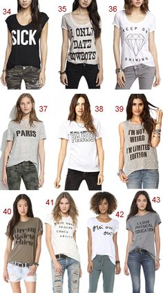 Get the Look: Graphic T-Shirts