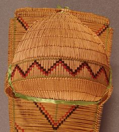 Paiute Indian Designs | designs indicate the cradle board was made for a boy.