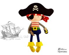 Pirate Sewing PDF Pattern Digital Instant Download DIY Plush Boy Toy - Hat and Eye Patch fits your child by DollsAndDaydreams on Etsy https://www.etsy.com/listing/153561861/pirate-sewing-pdf-pattern-digital