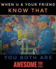 #msd7 #vk18 👑👑 Dhoni Wallpapers, Cricket Score, Virat Kohli, Mahi Mahi, Serena Williams, Best Player, In This Moment, Memes, Fun
