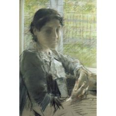 At the Window William Merritt Chase (1849-1916 American) Pastel Canvas Art - William Merritt Chase (18 x 24)
