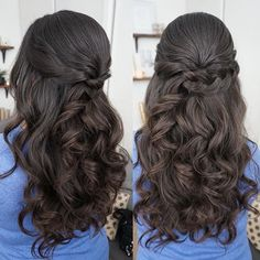 I love making the end of the braid just disappear, like you didn't even realize it stopped. Alyce has such pretty, shiny hair and this half-up curled style is perfect for her!